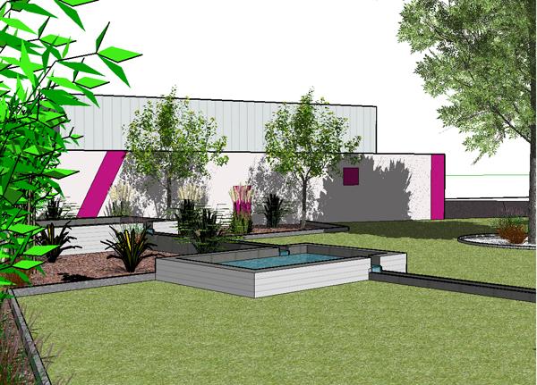 Vert l 39 ouest paysagiste architecte paysagiste conception - Conception jardin 3d gratuit ...
